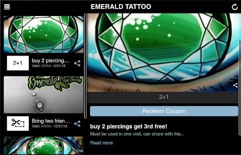 EMERALD TATTOO & PIERCING- screenshot thumbnail