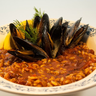 Chorizo Mussels.