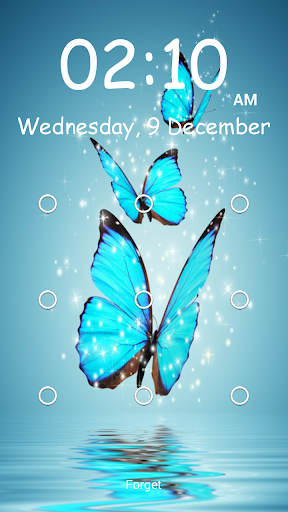 Butterfly Pattern Screen Lock