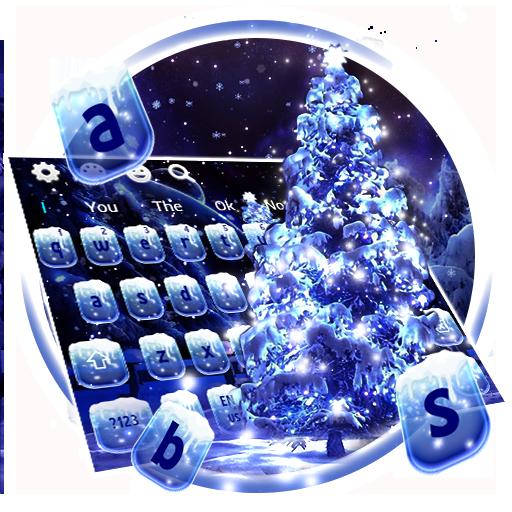 Snow Christmas Tree keyboard theme