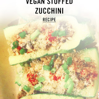 Vegan Stuffed Zucchini Recipe