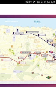 Rabat and Sale Tram Map Gratis