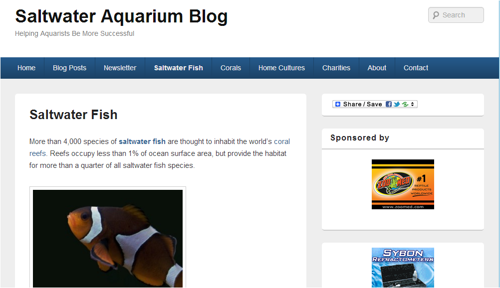 Best of saltwater aquarium blog in 2012