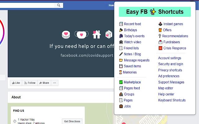 Easy Shortcuts For Facebook