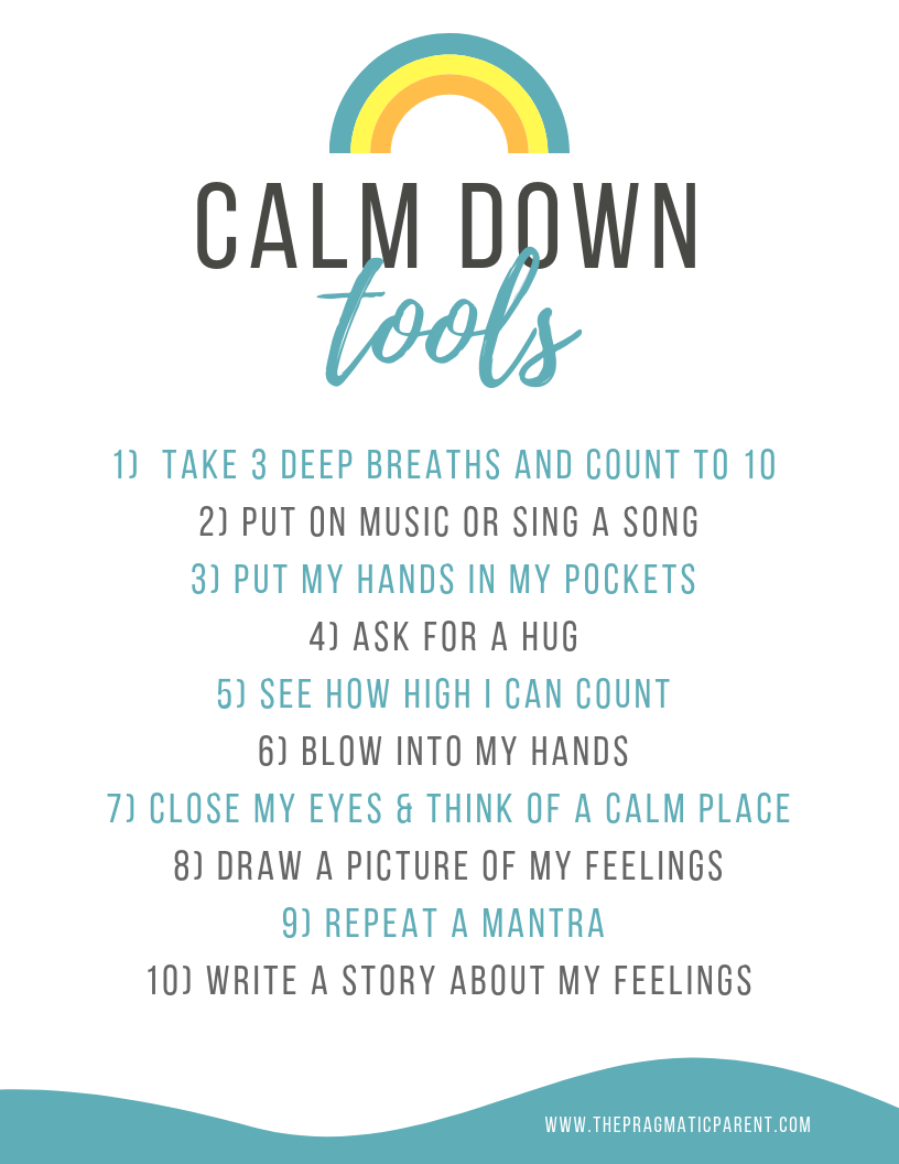 Calm Down Tools for Kids
