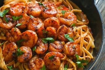 Blackened Shrimp & Pasta