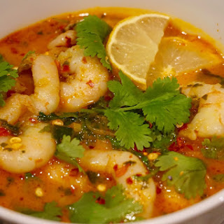 Red Curry Coconut Soup With Rice Noodles And Prawn Recipe .