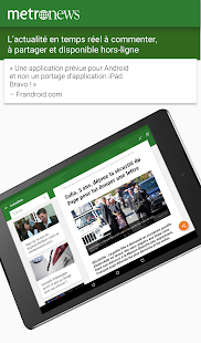 Metronews pour tablette- screenshot thumbnail