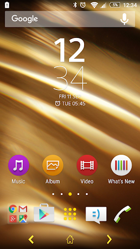 APS Theme - Abstract Gold