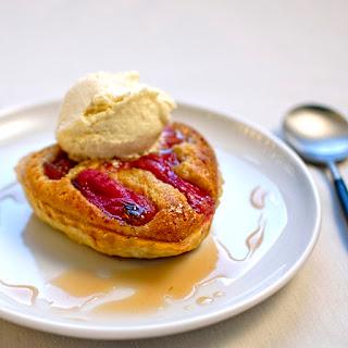 Rhubarb Tart With Star Anise Ice Cream