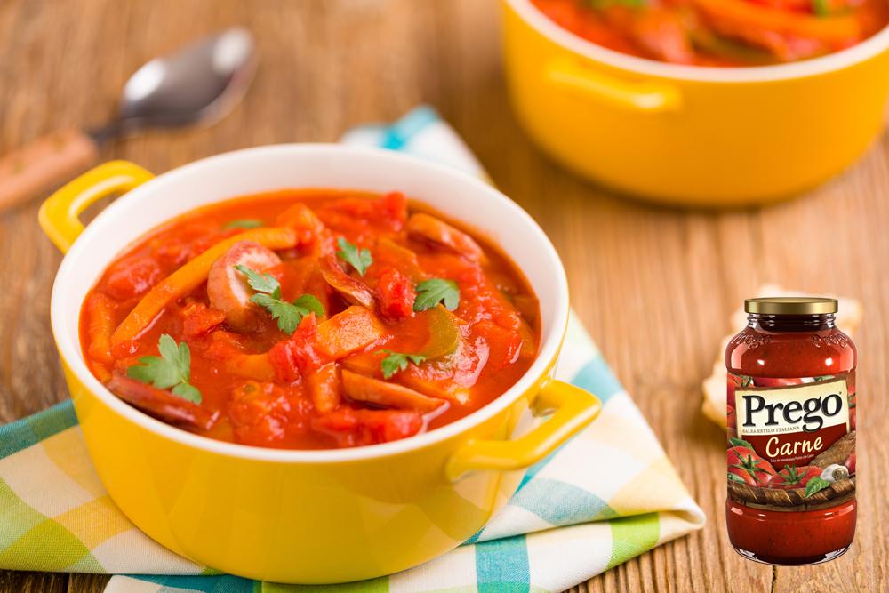 cómo se usa la salsa prego con verduras