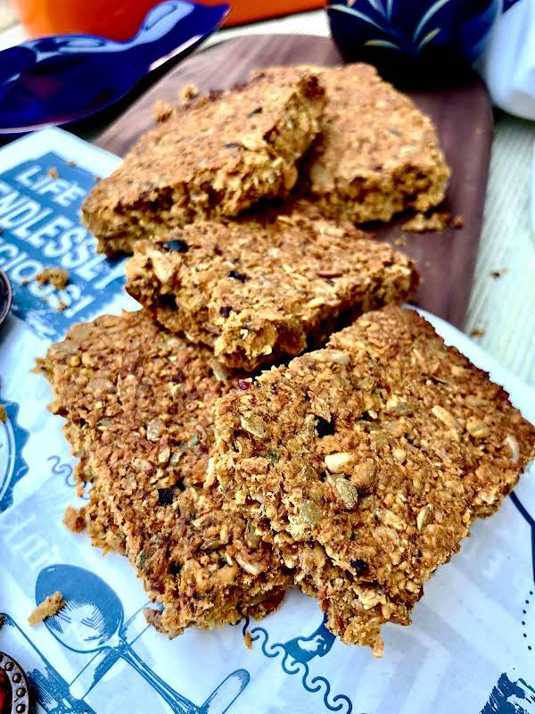 Flapjacks With Honey And Dry Pomegranate Seed Recipe
