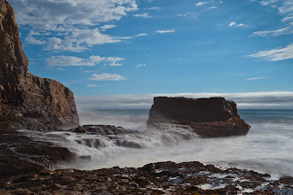 Photo: This small beach in Davenport, CA has wonderful rock formations.