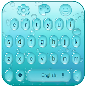 blue drop keyboard theme