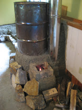 Photo: Firing the stove again