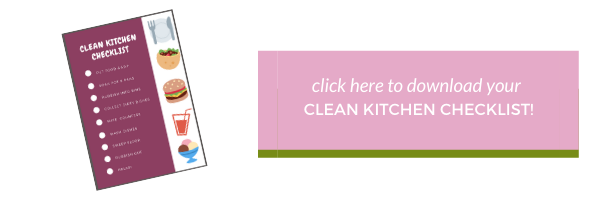Clean Kitchen Checklist