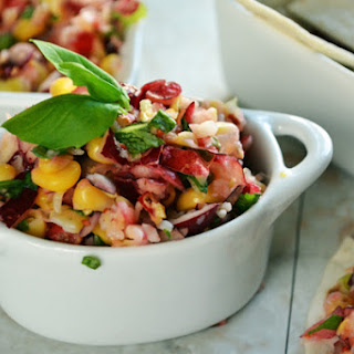 Cranberry Corn Salsa with Fresh Basil