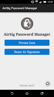 AirSig Password Manager- screenshot thumbnail
