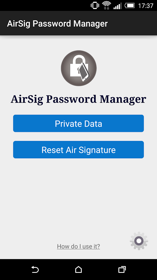 AirSig Password Manager- screenshot