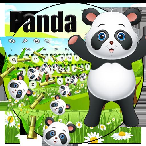 Cute Panda Gravity Keyboard Theme
