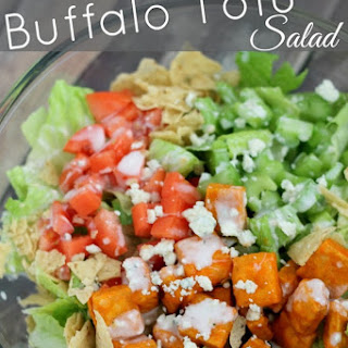 Buffalo Tofu Salad