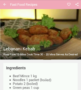 Fast food recipes apps on google play screenshot image forumfinder Images