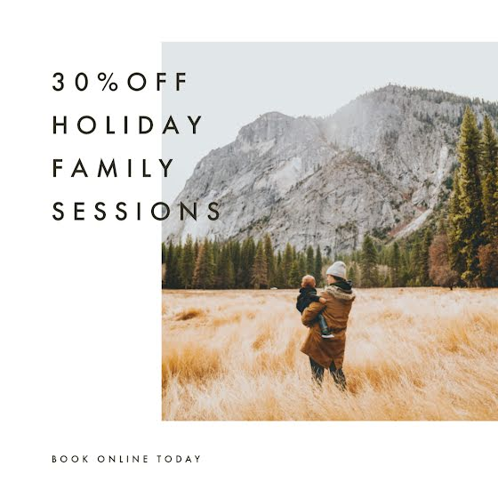 Holiday Family Sessions - Christmas Template