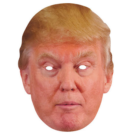 Pappmask, President Donald Trump