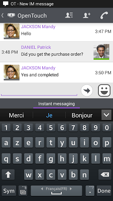 OpenTouch Conversation - screenshot