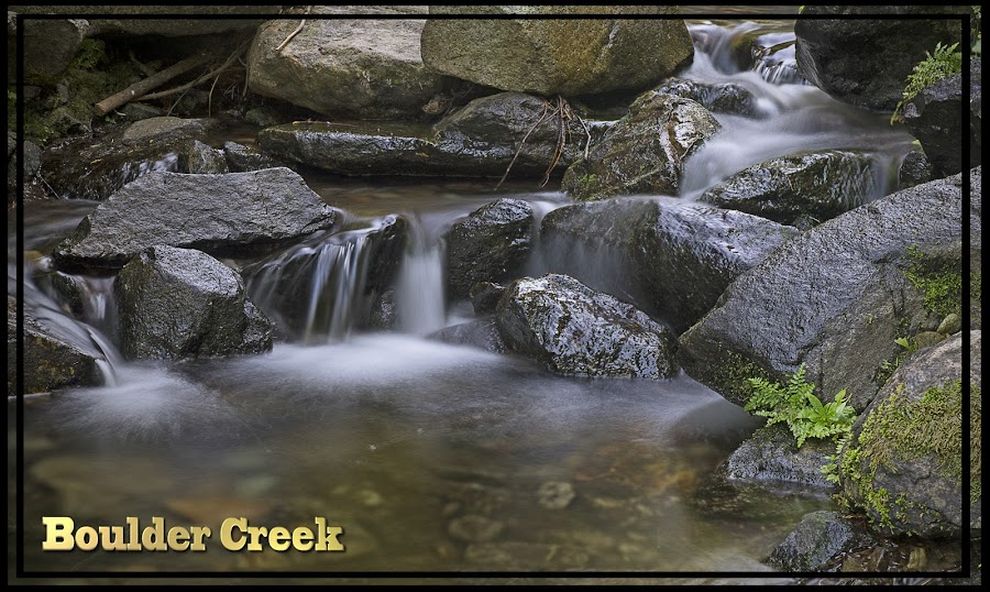 Boulder Creek by Danny Bruza - Typography Captioned Photos ( waterscape, water, alpine village,  )