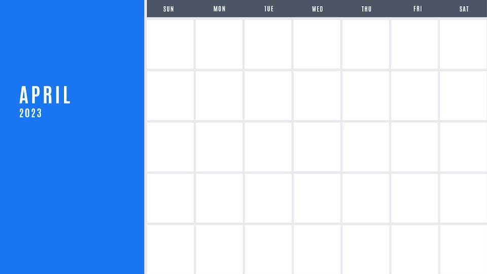 Bright Monthly - Calendar Template