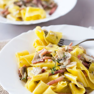 Speck and Mushroom Pappardelle Recipe