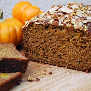 Nut Crusted Whole Wheat Pumpkin Bread