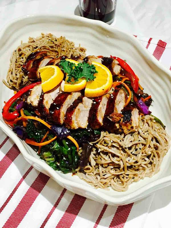 Delicious Duck On Soba Buckwheat Noodles Recipe