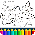 Planes: Coloring book Game icon