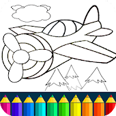 Planes: painting game. Beautiful coloring pages.