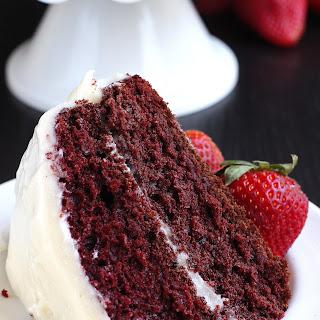 Vegan Red Velvet Cake.