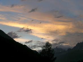 Photo: Les Houches, Masyw Mont Blanc, Alpy Francuskie - w głębi Aiguille du Dru