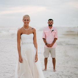 Her Moment by Autumn Wright - Wedding Bride & Groom ( love, bride, groom, beach, wedding )