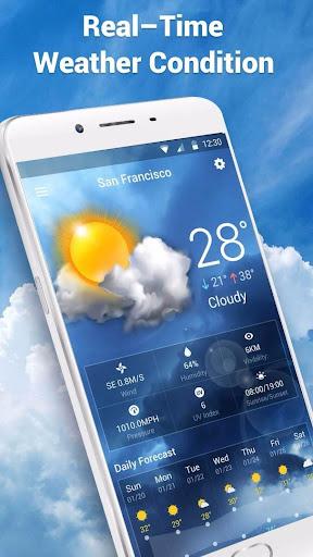 Transparent Live Weather Widge  screenshots 2