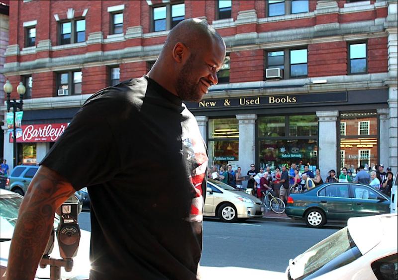 Photo: Harvard Book Store: New & Used Books... AND SHAQ!!