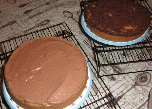 Once cake tests done, remove from oven and let cool completely.  While cake...