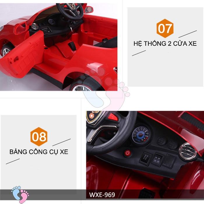 Xe ô tô điện trẻ em WXE-969 14
