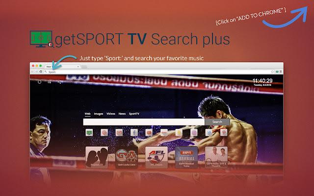getSportTV Search Plus chrome extension