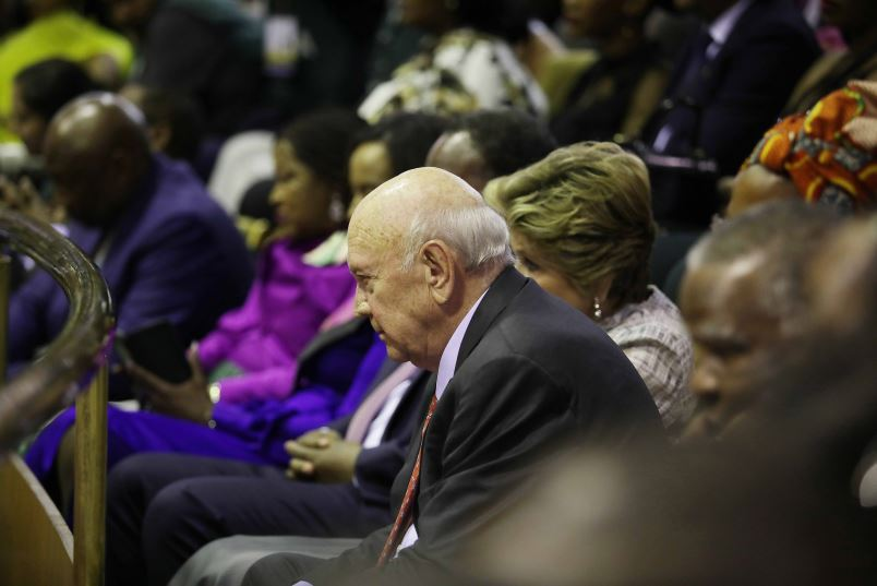 'Don't ignore De Klerk - too many think like he does'
