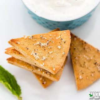 Whole Wheat Pita Chips With Yogurt Dip.