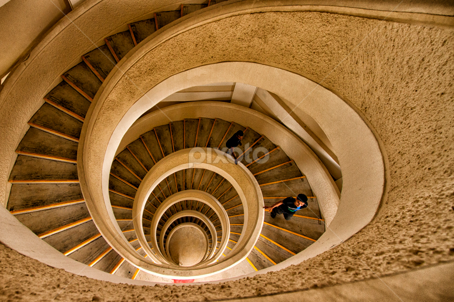 Spiral Staircase by Rafael Uy - Buildings & Architecture Other Interior ( stairs, spiral stairs, spiral, singapore, chinese garden )