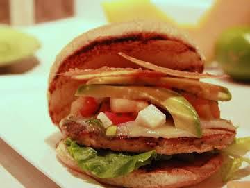 Costa Frico Chorizo Burgers w/ Cantaloupe Salsa