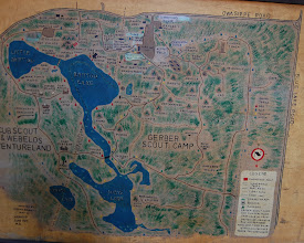 Photo: Nice hand painted camp map