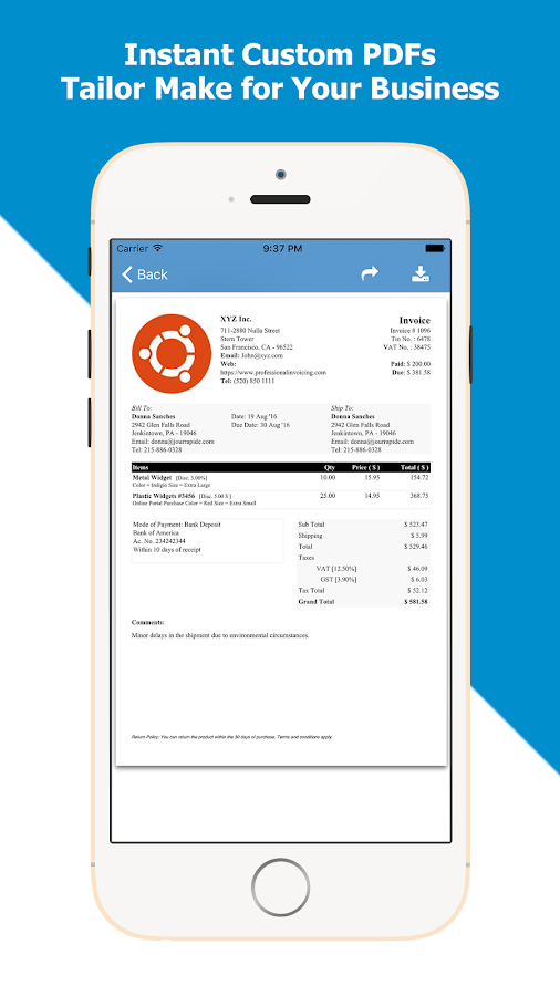 Professional Invoicing & Billing- screenshot